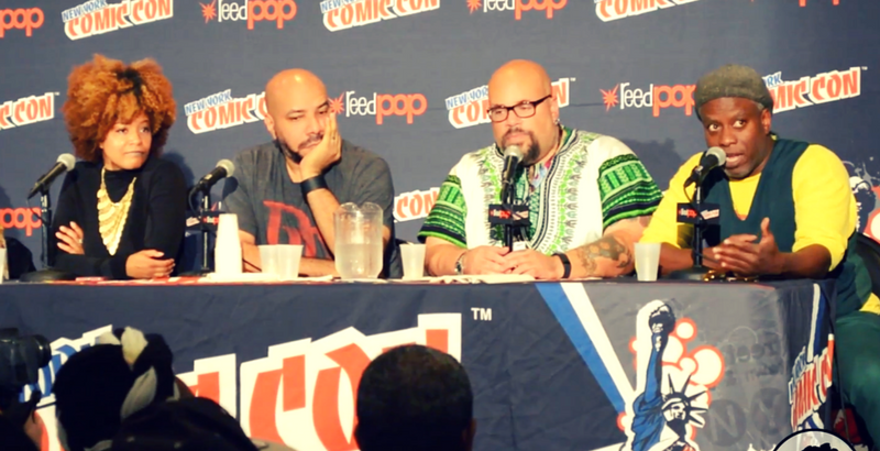 ytasha womack, john jennings, david f. walker, corey glover, nycc, Afropunks and blerds