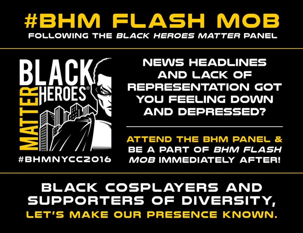 nycc, theblerdgurl, flash mob