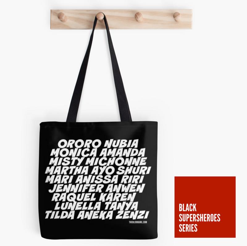 theblerdgurl, tote, black supersheroes